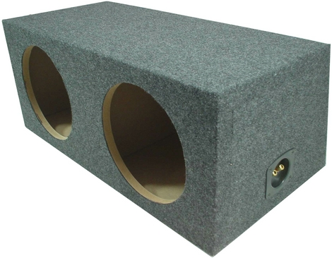 "Dual 15"" Subwoofer Box Rear Fire Enclosure"