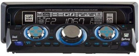 Dual Audio CD770 Car Stereo Motorized MP3 WMA CD Player Radio