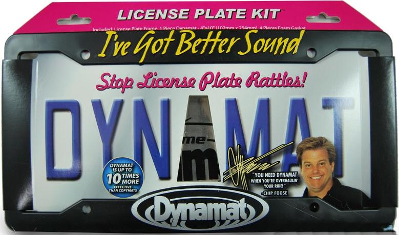 "Dynamat Car Audio 19100 License Plate Kit 4""x10"" Sound Damping Kit"