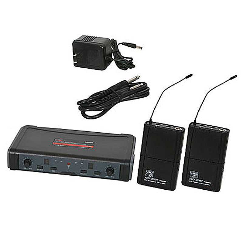 Galaxy Audio ECDR/38 ECD Dual Bodypack Wireless System with Mic System