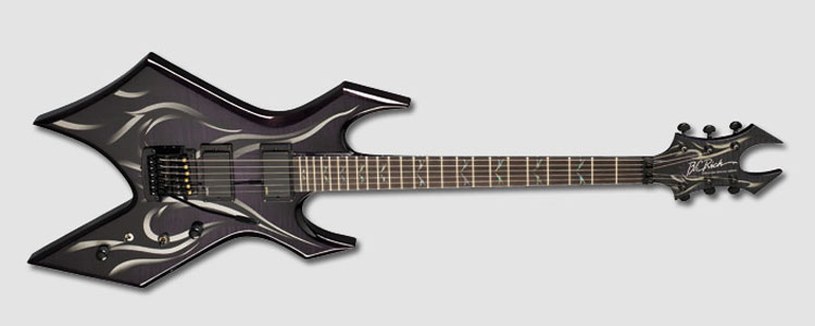 bc rich kerry king wartribe 6 warlock electric guitar trans black finish w tribal graphic. Black Bedroom Furniture Sets. Home Design Ideas