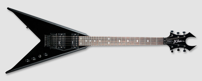 bc rich jrvefrbk jr v edge fr electric guitar with maple neck gloss black finish bcr14 jrvefrbk. Black Bedroom Furniture Sets. Home Design Ideas