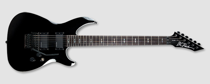 bc rich vlvbk villain veil electric guitar with floyd rose special bridge type gloss black. Black Bedroom Furniture Sets. Home Design Ideas