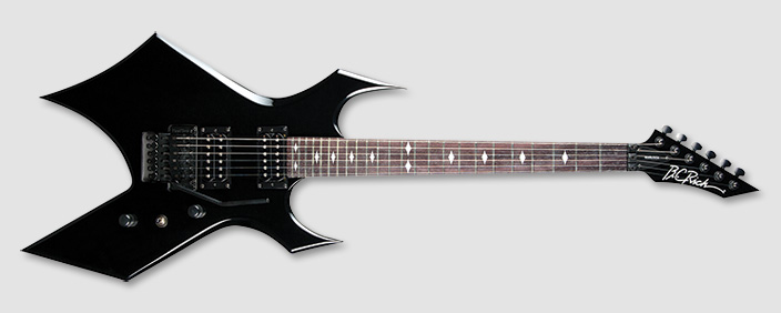 bc rich wgfrbk warlock fr electric guitar with bolt on construction gloss black finish bcr14. Black Bedroom Furniture Sets. Home Design Ideas