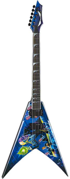 dean dave mustaine electric guitar w hardshell case rust in peace custom graphic vmnt rip. Black Bedroom Furniture Sets. Home Design Ideas