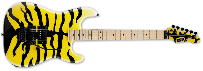 ESP M-1 Tiger George Lynch Signature Series  Electric Guitar - Maple Body & Neck Duncan Yellow w/ Tiger Finish (EGLM1)