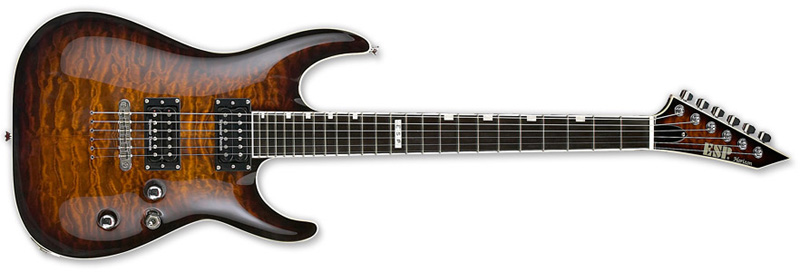 ESP Horizon NT II Standard Series Electric Guitar - Mahogany w/ Quilted Maple Top Dark Brown Sunburst Finish (EHORNTSTDDBSB)
