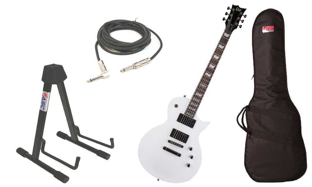esp ltd ec series ec 331 mahogany body 6 string rosewood fingerboard snow white electric guitar. Black Bedroom Furniture Sets. Home Design Ideas