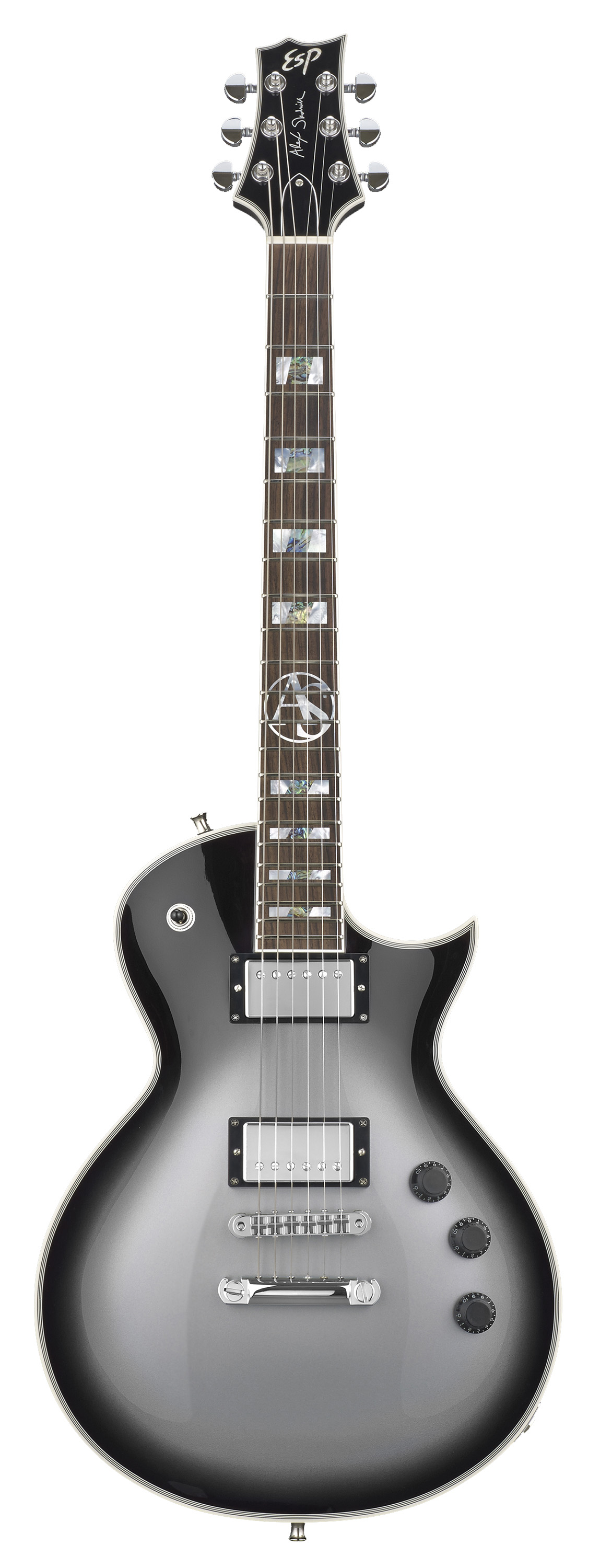 ESP EALEXSSSB Alex Skolnick Signature Electric Guitar with Silver Sunburst Finish
