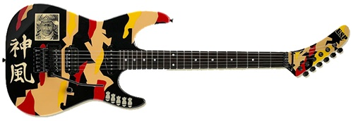 ESP EGLK1 George Lynch Signature Series Electric Guitar with Black Finish and Kamikaze Graphic