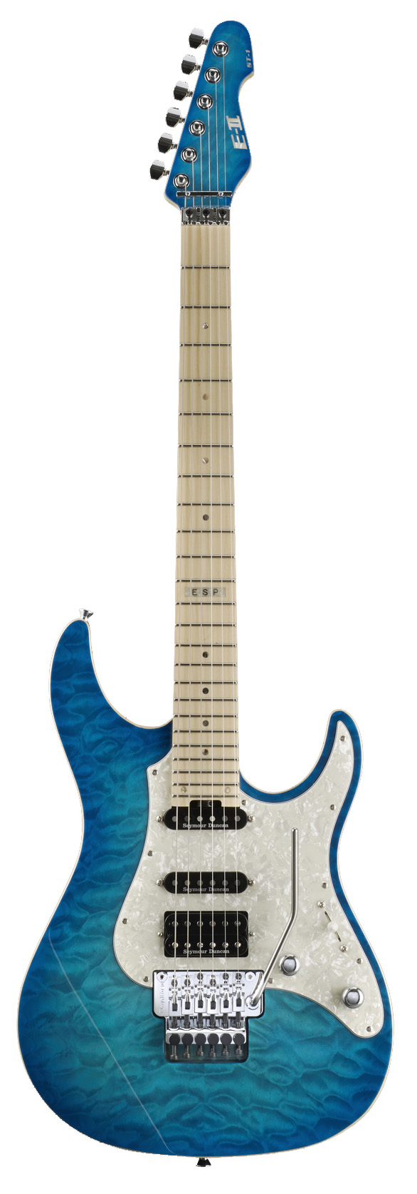 ESP ST-1 MAPLE AQM E-II ST Series Electric Guitar with Quilted Top Aqua Marine Finish