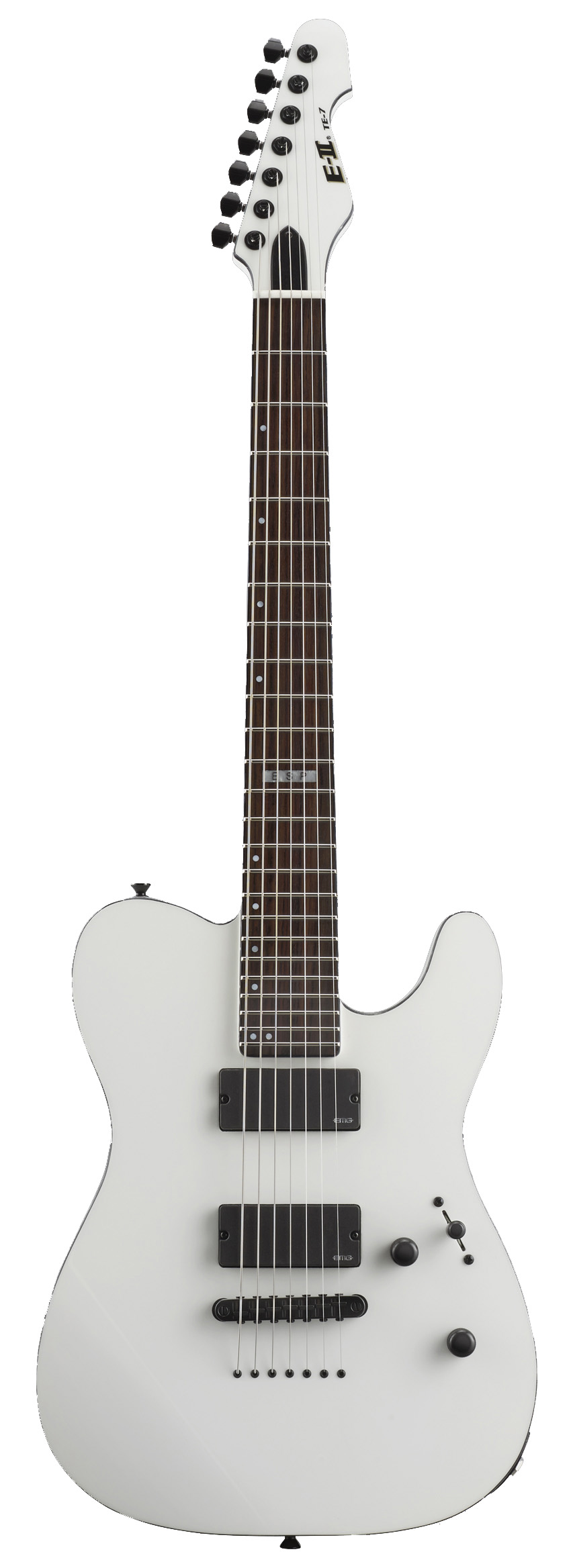 ESP TE-7 SW TE Series Tele Electric Guitar with 7 Strings and Snow White Finish