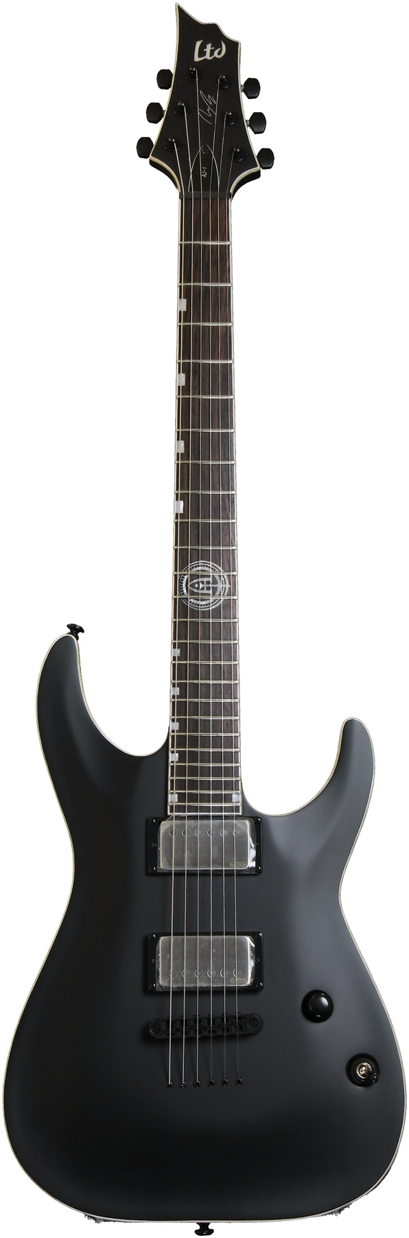 ESP LAJ1BLKS LTD AJ-1 Andy James Electric Guitar Signature Series with Black Satin Finish