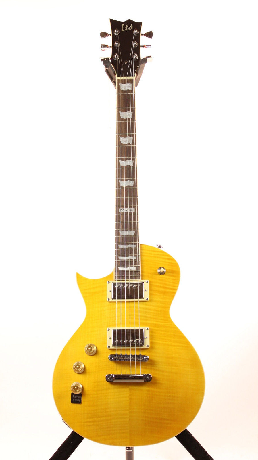 ESP LTD EC-256FM LD LH Distressed Electric Guitar Left Handed Design with Lemon Drop Finish