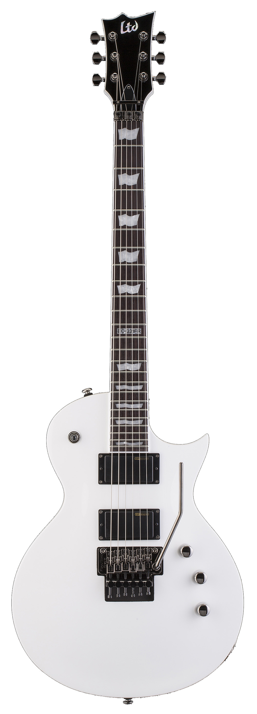 ESP LTD EC-331FR SW EC Series Electric Guitar with Rosewood Fingerboard and Snow White Gloss Finish