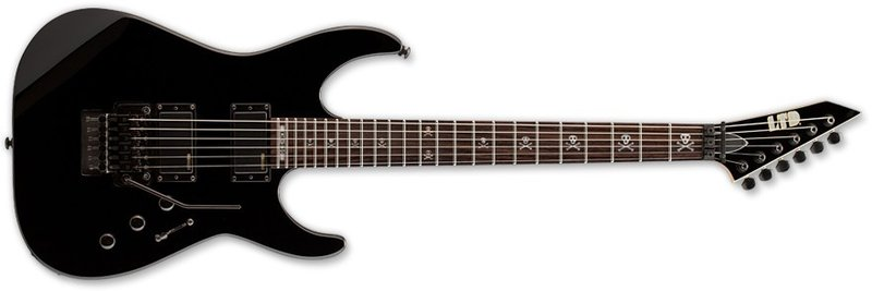 ESP LKH330BLK LTD Signature Series Kirk Hammett Electric Guitar with Basswood Body Black Finish