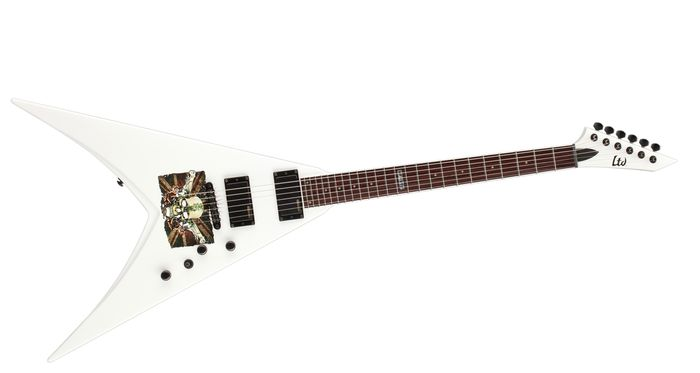 ESP LMP330SW LTD MP-330 Michael Paget Signature Series V Electric Guitar with Snow White Finish
