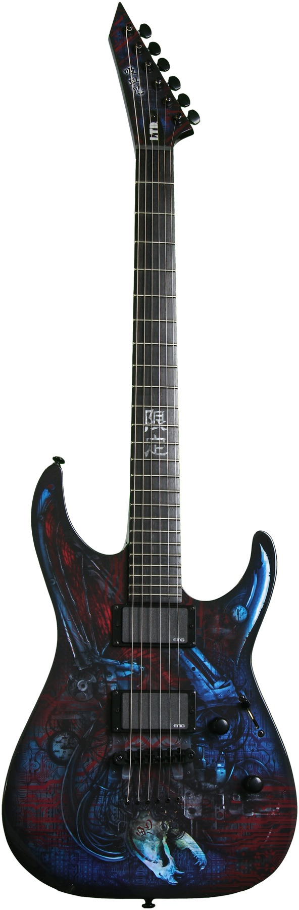 ESP LTD M VAMPIRE BIO TECH Electric Guitar Graphic Series with Bio-Tech Black Finish