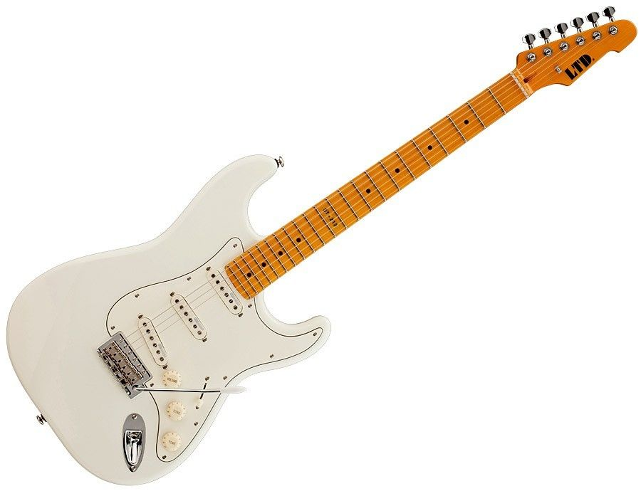 ESP LTD ST-213 MAPLE OW Standard Series Electric Guitar with Vintage Tremolo Olympic White Finish