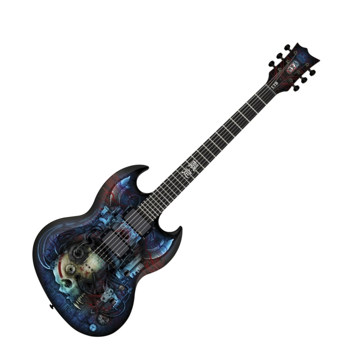 esp ltd viper vampire bio tech electric guitar graphic series with bio tech black finish esp14. Black Bedroom Furniture Sets. Home Design Ideas