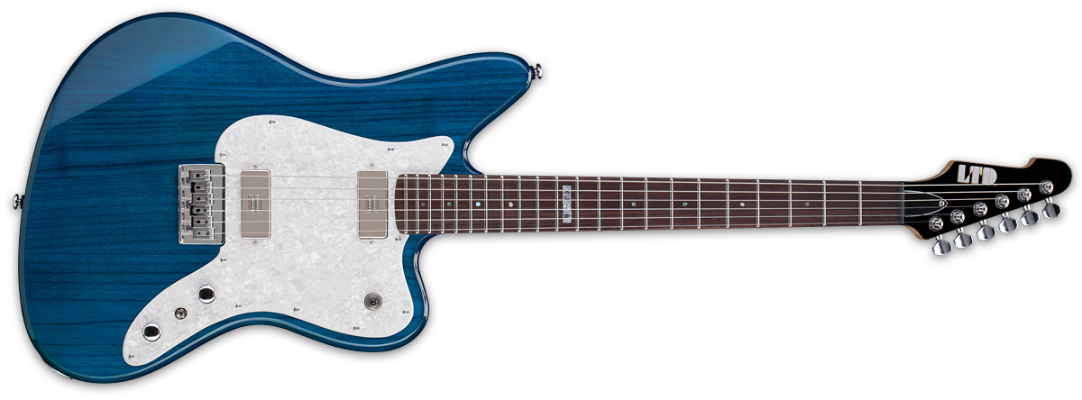 ESP LTD XJ-6 STB XJ Series Electric Guitar with Bolt-On Construction See Through Blue Finish