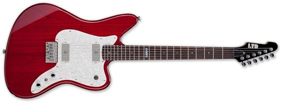 ESP LTD XJ-6STR XJ Series Electric Guitar with Swamp Ash Body and See Through Red Finish
