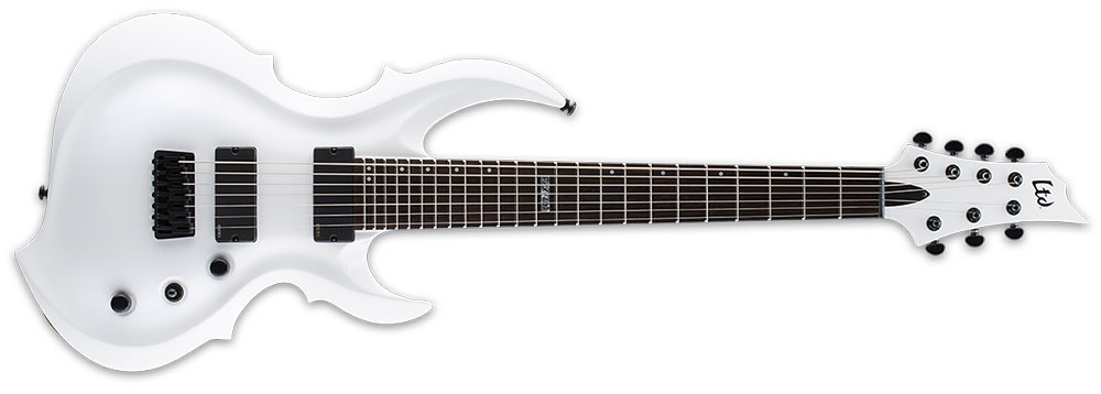 ESP LTD FRX-407 SW 7-String FRX-Series 3Pc Maple Neck Electric Guitar - Snow White Finish (LFRX407SW)