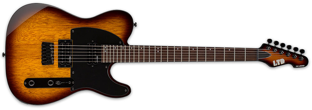 ESP LTD TE-200 R TSB 6-String Rosewood Fingerboard Electric Guitar - Tobacco Sunburst Finish (LTE200RTSB)