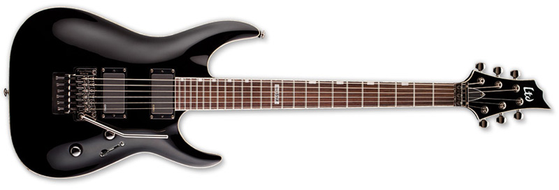 ESP LTD H-351 FR H-Series Electric Guitar - Black Finish Mahogany Body & Rosewood Fingerboard (LH351FRBLK)