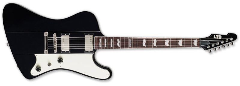 ESP LTD PHOENIX-200 Phoenix Series Electric Guitar - Black Finish Basswood Body & Rosewood Fingerboard (LPHX200BLK)