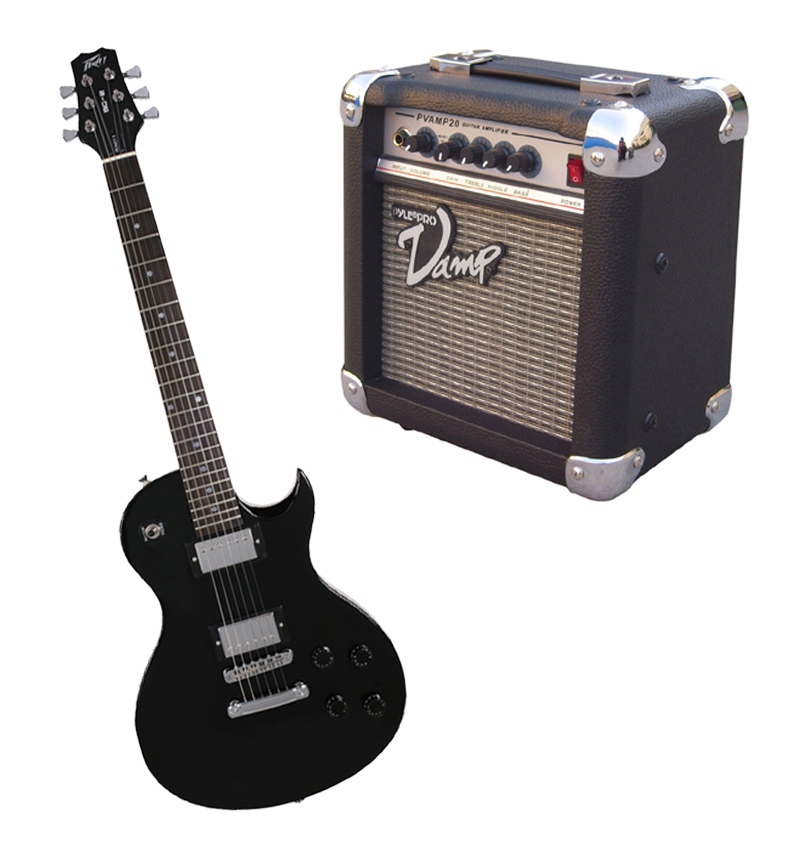 peavey sc2 electric 6 string dual pickup guitar black finish with pvamp20 practice amp peavey. Black Bedroom Furniture Sets. Home Design Ideas