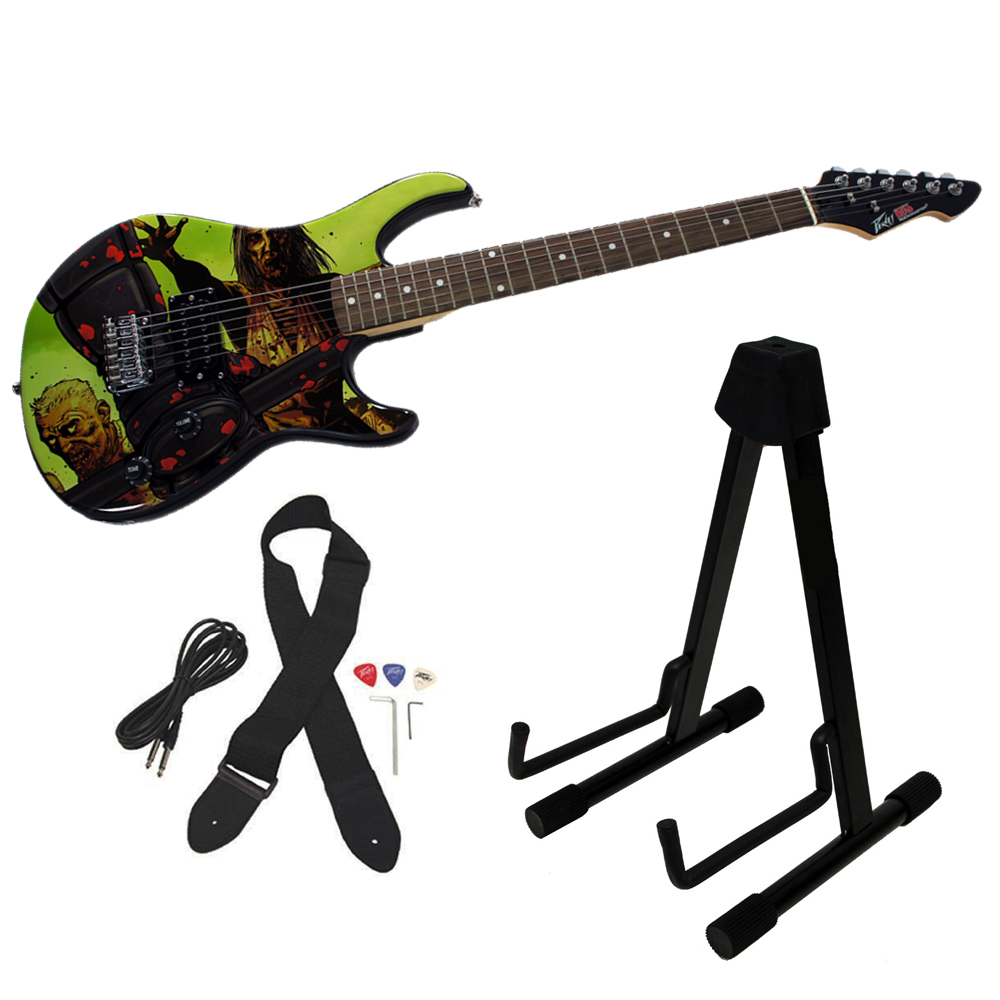 Peavey The Walking Dead Riot 26 Rockmaster Electric Guitar w/ Instrument Stand