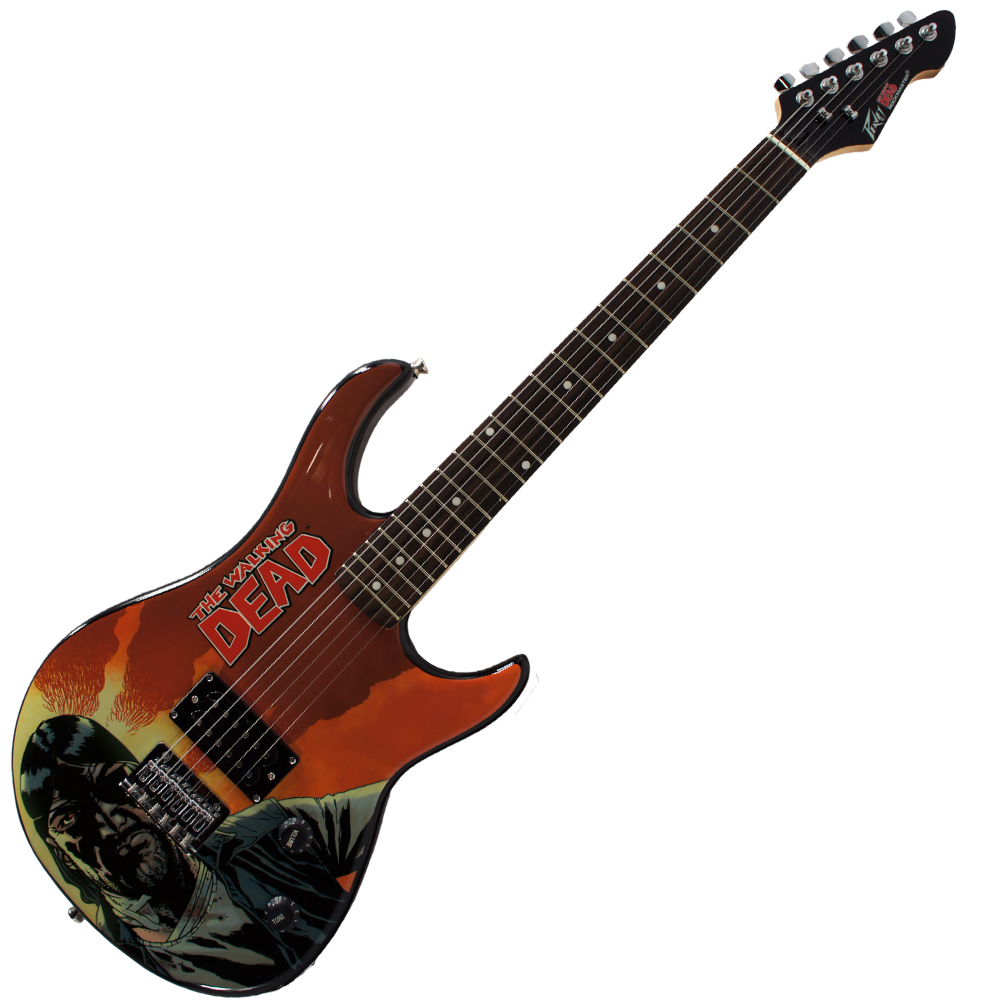 Peavy Rockmaster Full Size The Walking Dead - Governor Red 43 Maple Neck 21 Fret Electric Guitar