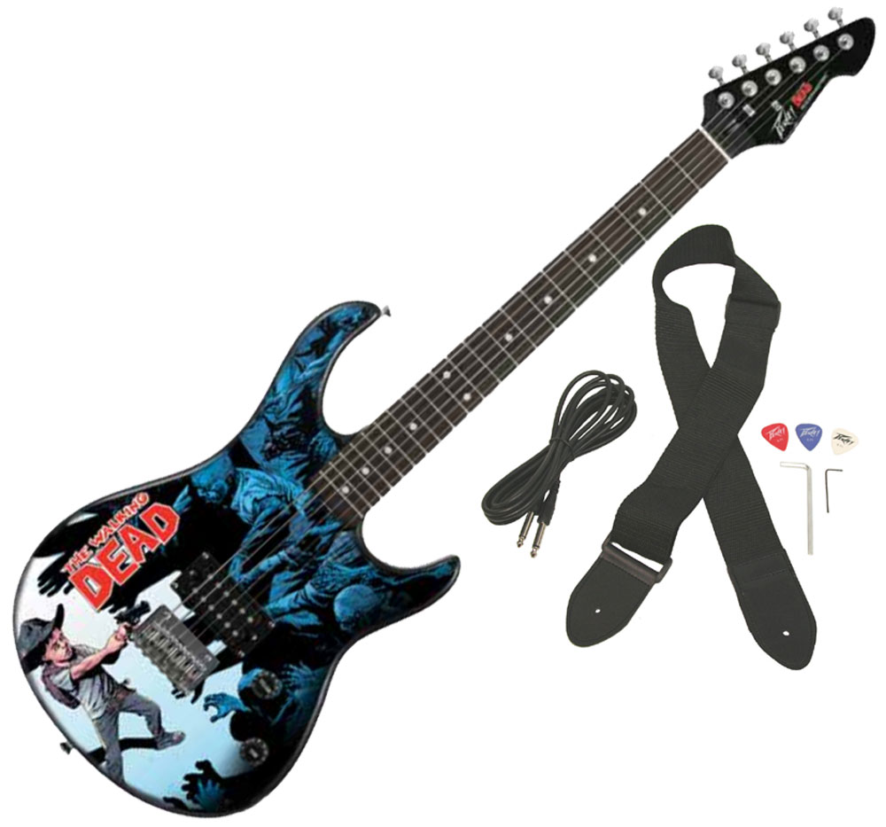Peavy Rockmaster Full Size The Walking Dead - Carl Surrounded 50 Maple Neck 21 Fret Electric Guitar