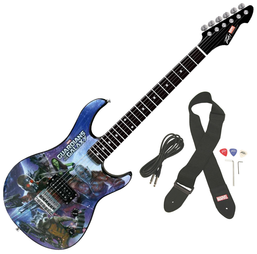 peavey rockmaster full marvel guardians of the galaxy electric guitar stand pev14 3023500 pack. Black Bedroom Furniture Sets. Home Design Ideas