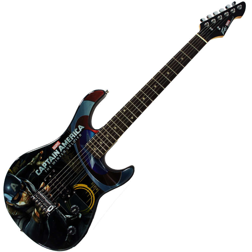 peavy rockmaster full size captain america the winter soldier maple neck 21 fret electric. Black Bedroom Furniture Sets. Home Design Ideas