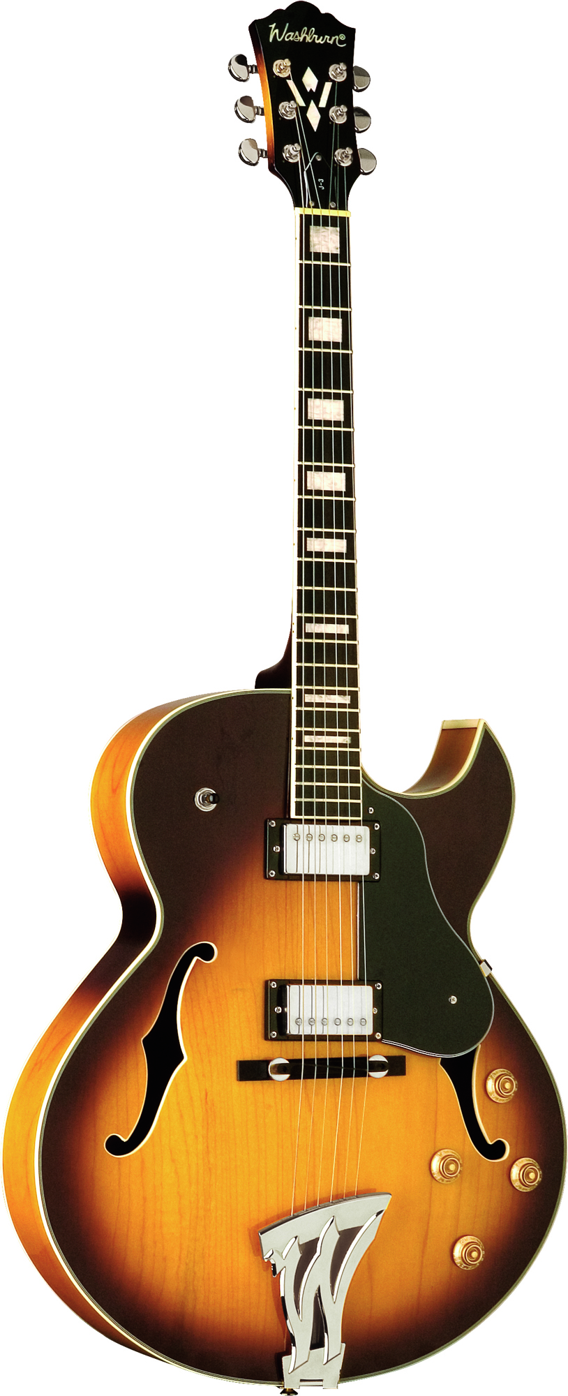 washburn j3tsk jazz electric florentine cutaway style guitar with 2 humbucker pickups tobacco. Black Bedroom Furniture Sets. Home Design Ideas