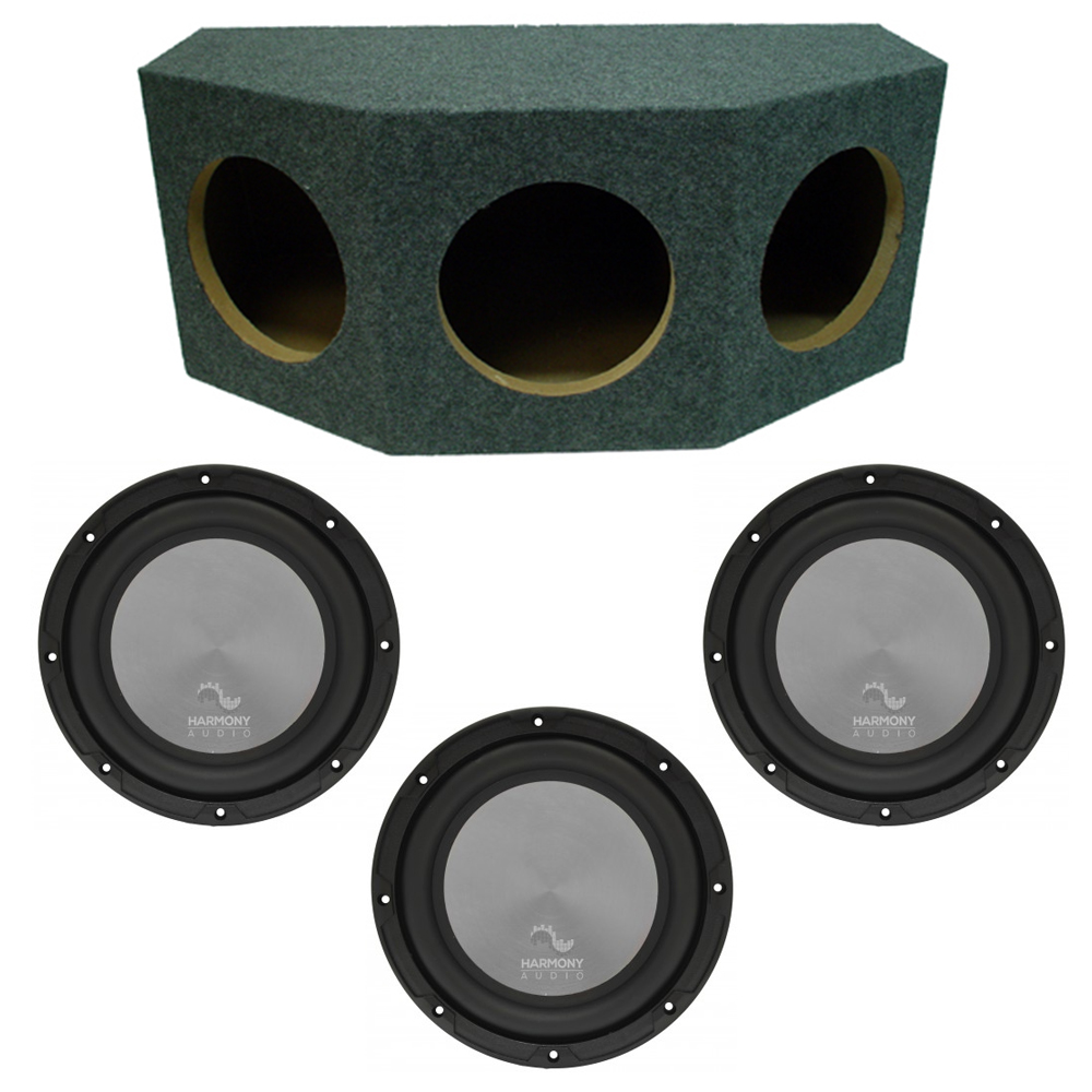 "Harmony Audio A102 Triple 10"" Subwoofer Loaded 2400 Watt Sub Box Enclosure New"