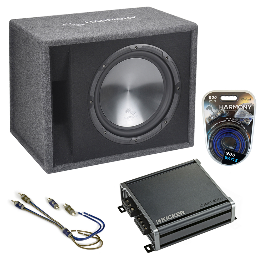 "Fits Audi A3 06-17 Harmony Single 12"" Loaded Sub Box Enclosure & CXA400.1 Amp"