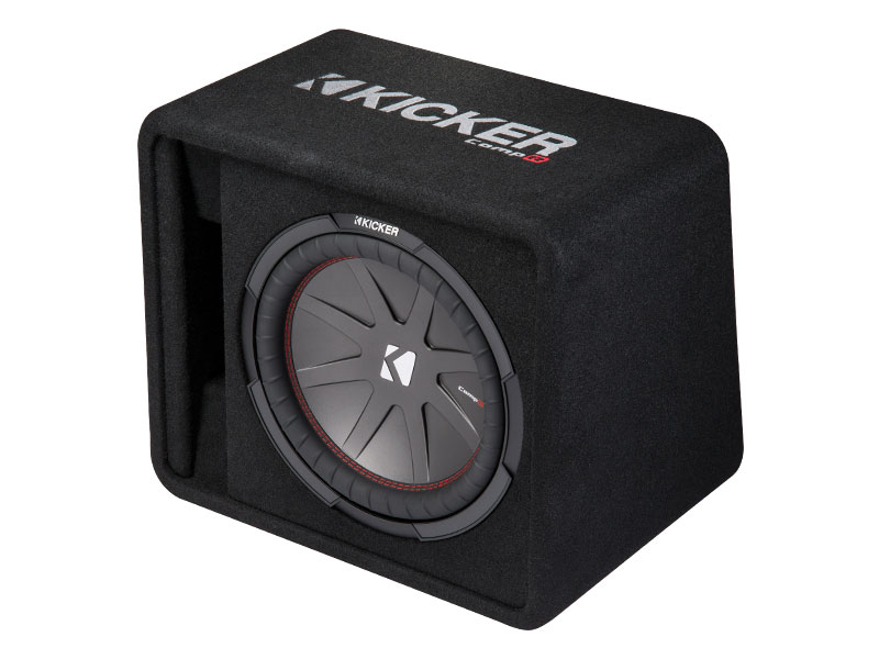 """Kicker 43VCWR122 12"""" CompR Series Sub 500W RMS 2 Ohm Vented Loaded Subwoofer Enclosure - Limted Stock"""