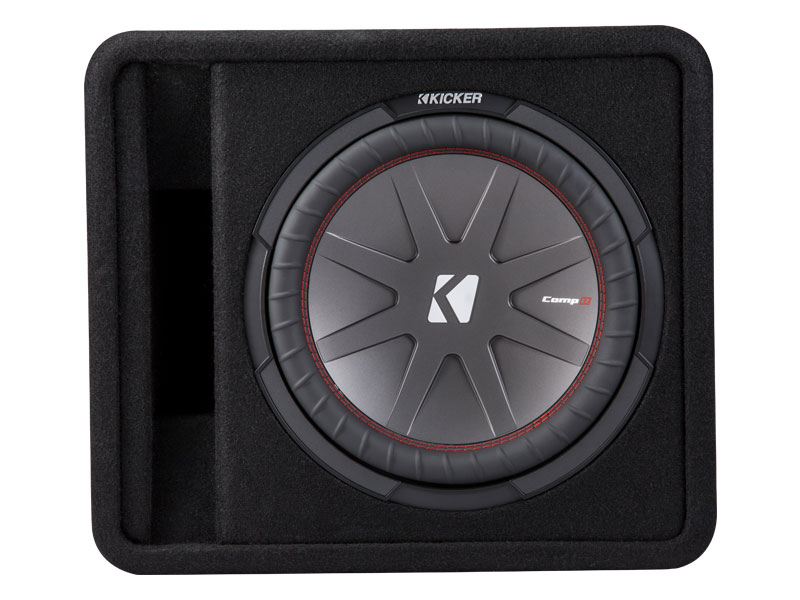"""Kicker 43VCWR122 12"""" CompR Series Sub 500W RMS 2 Ohm Vented Loaded Subwoofer Enclosure"""