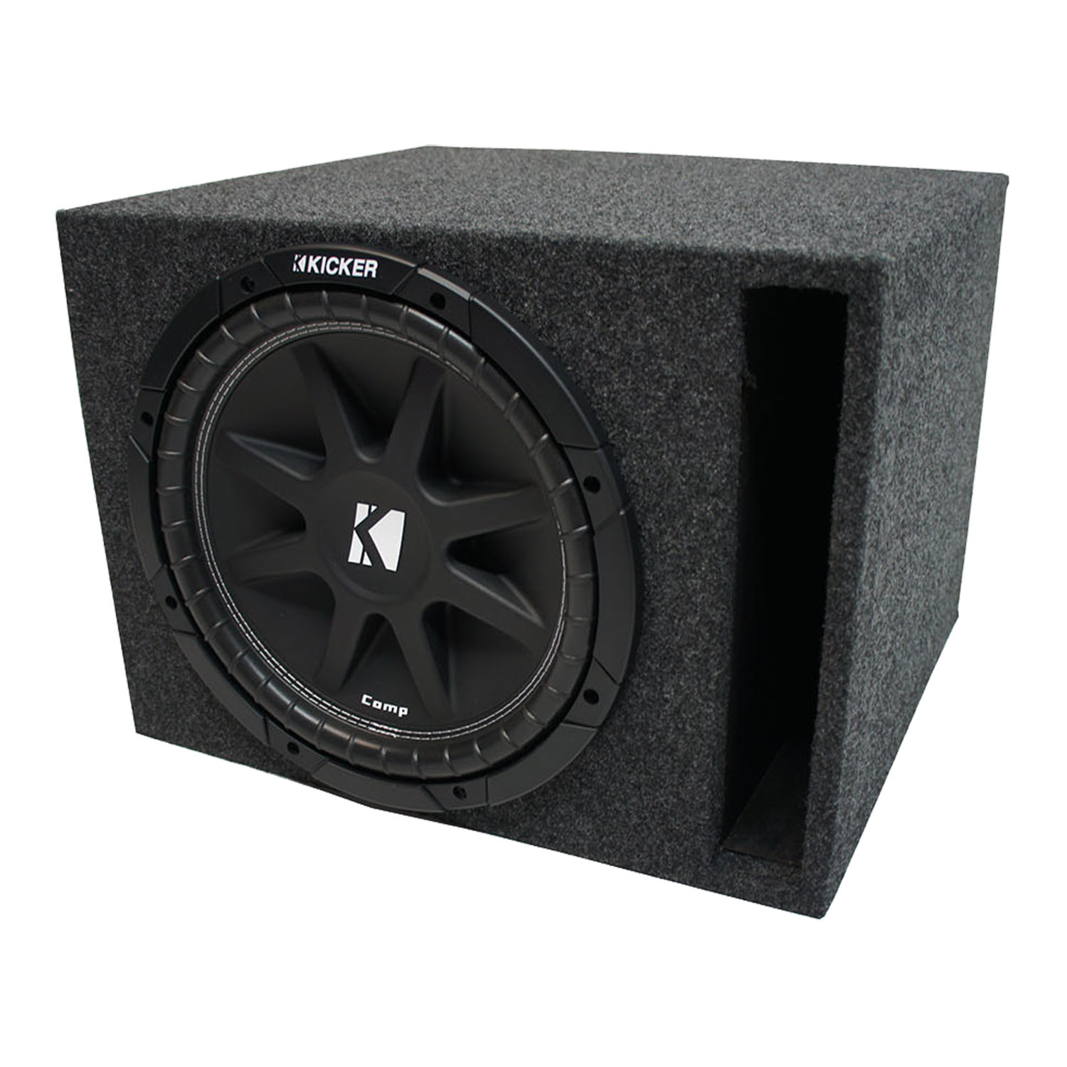 "Universal Car Stereo Vented Port Single 15"" Kicker Comp C15 Sub Box Enclosure - Final 4 Ohm"