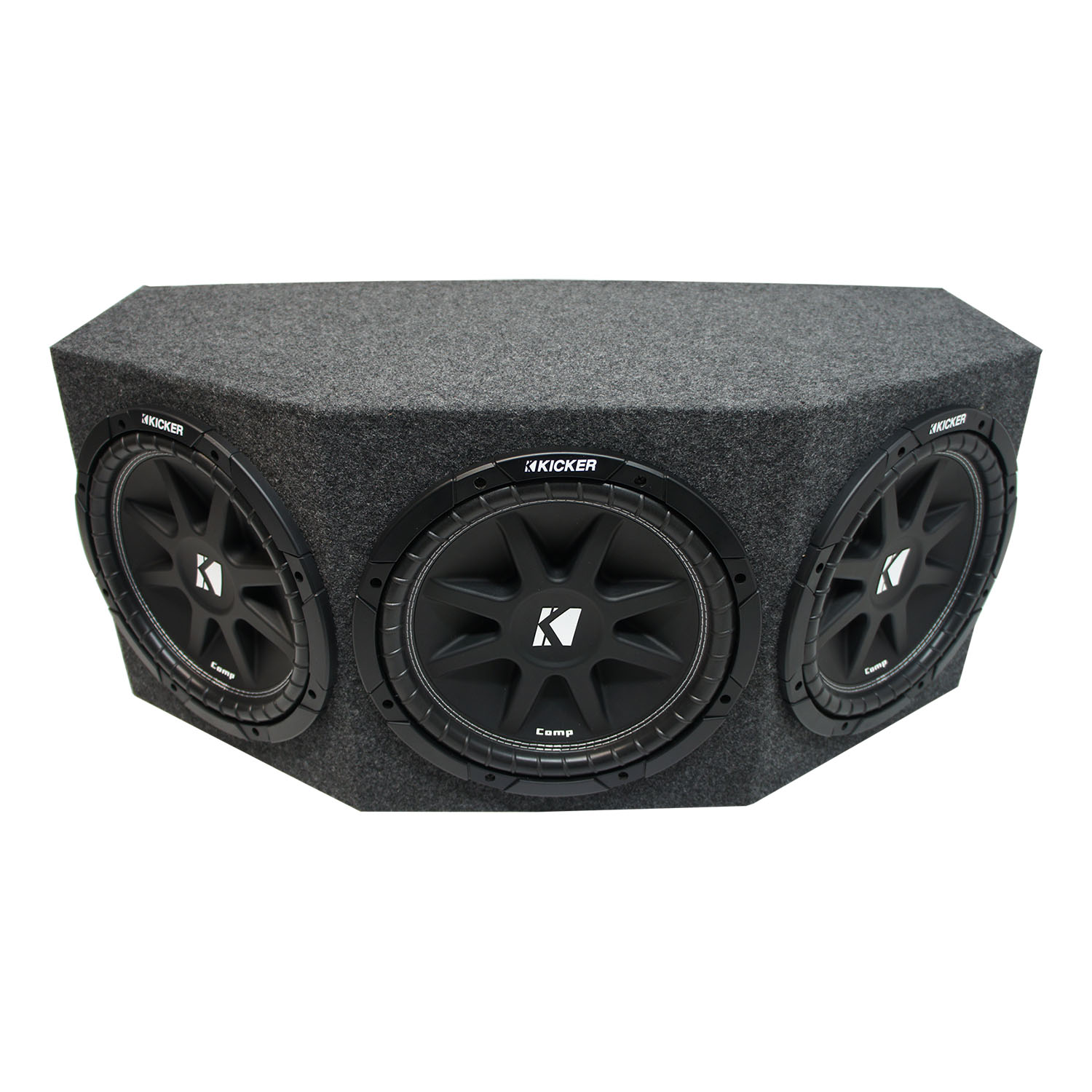 "Kicker Comp C12 Triple 12"" Subwoofer Loaded 900 Watt Sub Box Enclosure New - Final 1.3 Ohm"