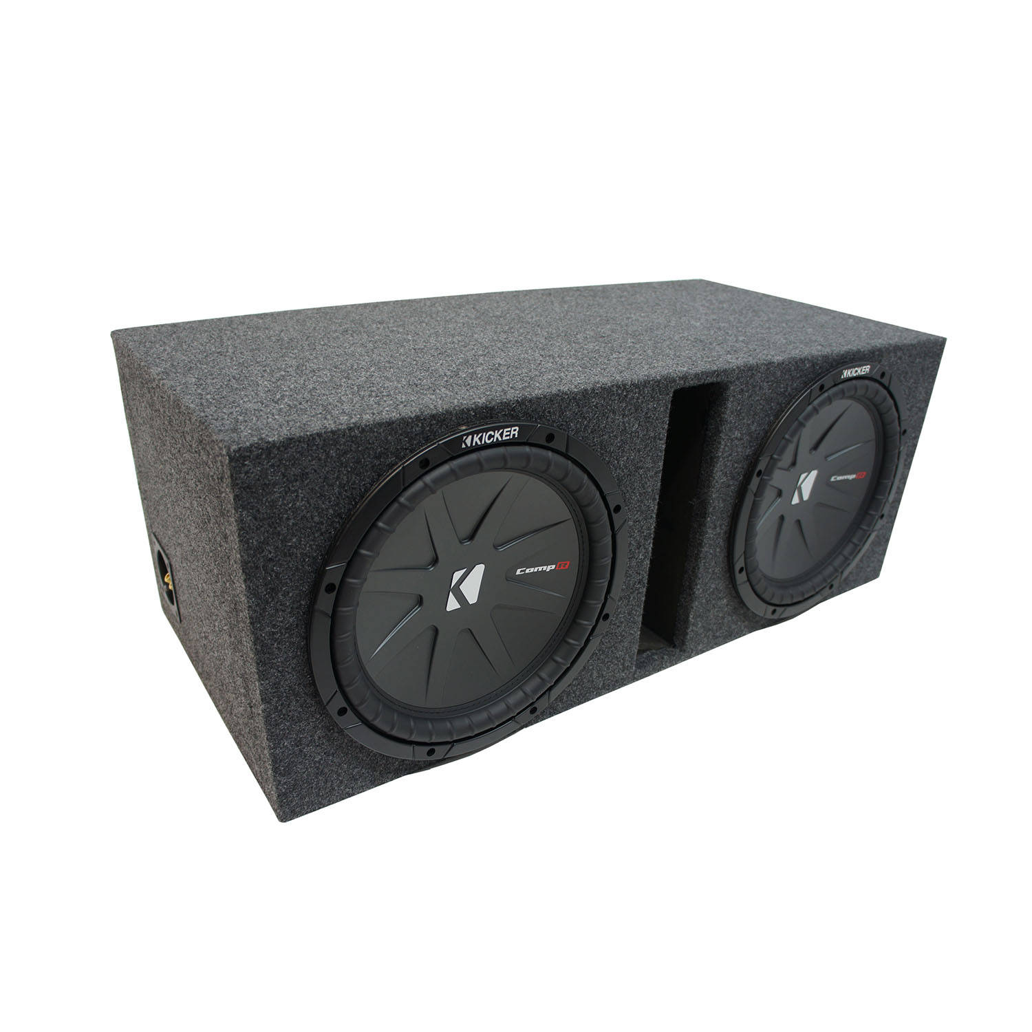 "Universal Car Stereo Vented Port Dual 15"" Kicker CompR CWR15 Sub Box Enclosure - Final 2 Ohm"