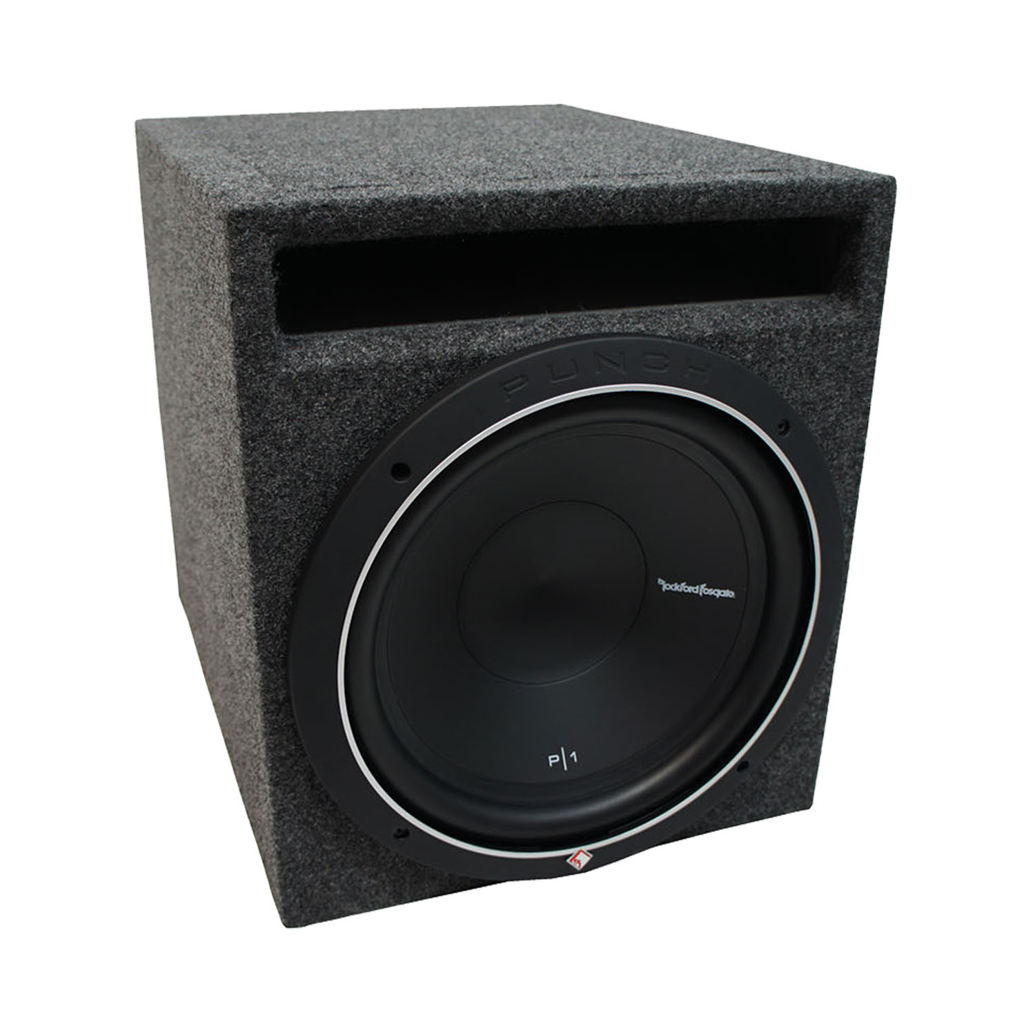 """Universal Car Stereo Slotted S Port Single 10"""" Rockford Punch P1S210 Sub Box Enclosure - Final 2 Ohm"""