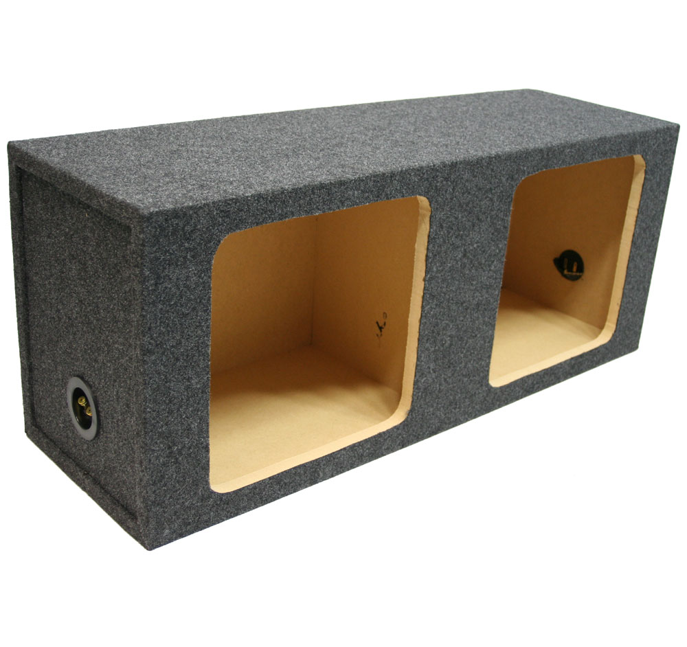 "Dual 10"" Subwoofer Sealed Kicker L3 L5 L7 Square Cutout Sub Box 3/4"" MDF Speaker Enclosure"
