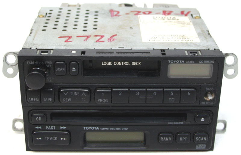 19921999 Toyota Camry Factory Stereo Tape Cd Player Oem Rhhifisoundconnection: 2000 Camry Radio Security Code At Gmaili.net