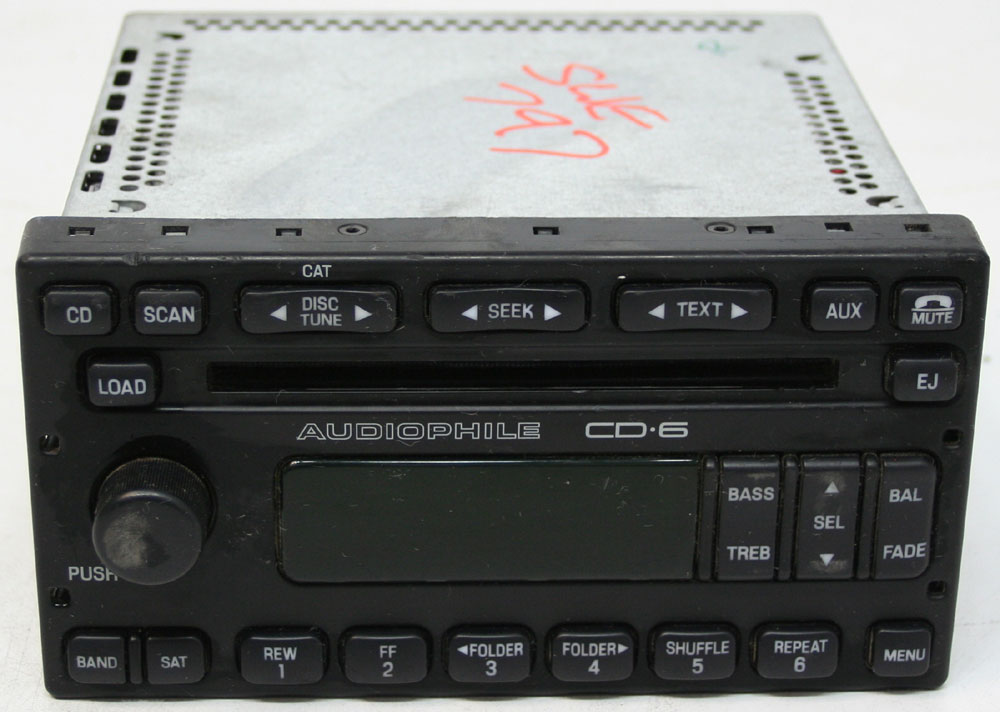 Ford Escape 2006-2007 Factory Stereo Audiophile 6 Disc Changer CD ...