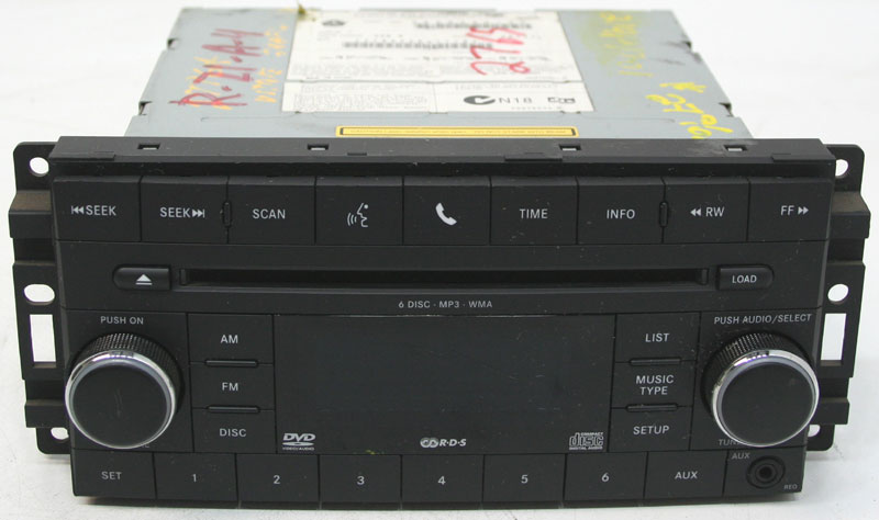 Dodge Charger 2010 Factory Stereo 6 Disc Changer MP3 CD DVD Player OEM Radio