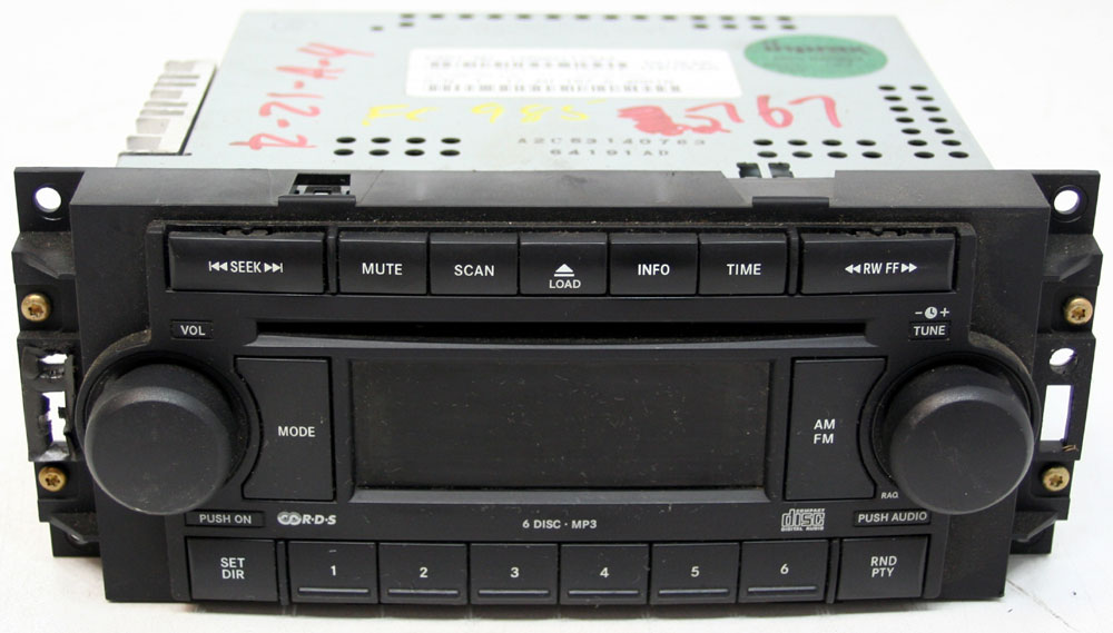 Dodge Charger 2006-2007 Factory Stereo 6 Disc Chnager MP3 CD Player OEM Radio